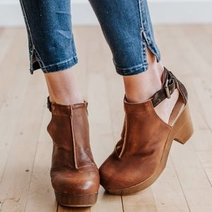 Free People Amber Orchard Leather Clog